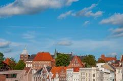 Stadt von Lübeck in Deutschland stockfoto
