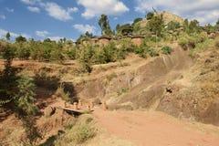 Stadt von Lalibela, Äthiopien Stockbilder