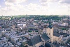 Stadt von Lemberg Lizenzfreie Stockbilder