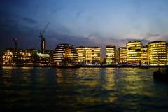 Stadt von London am Abend Lizenzfreie Stockfotografie