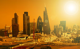 Stadt von London eins der führenden Mitten der globalen finance Lizenzfreie Stockbilder