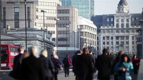 Stadt von London-Pendlern stock video footage