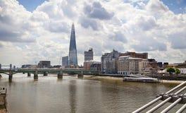 Stadt von London, Scherbe, Ansicht von der Themse Lizenzfreie Stockfotos