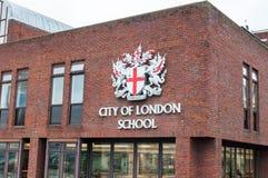 Stadt von London-Schule in der Mitte von London, England Stockfoto