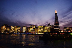 Stadt von London und von Scherbe Stockbild