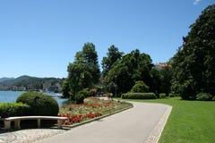 Stadt von Lugano, die Schweiz Lizenzfreie Stockfotografie