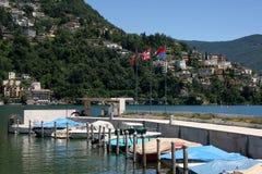 Stadt von Lugano, die Schweiz lizenzfreie stockfotos