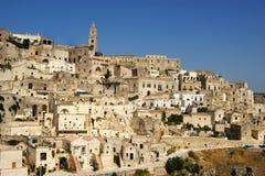 Stadt von Matera Italien Lizenzfreie Stockfotos