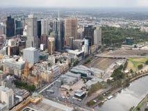 Stadt von Melbourne, Draufsicht, Australien Lizenzfreies Stockfoto