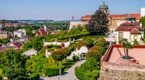 Stadt von Melk - Österreich Lizenzfreies Stockfoto