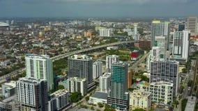 Stadt von Miami-Luftgesamtlänge stock footage