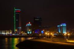 Stadt von Minsk, Allee Pobediteley Stockfotografie