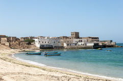 Stadt von Mirbat, Salalah, Mirbat, Oman Lizenzfreies Stockfoto