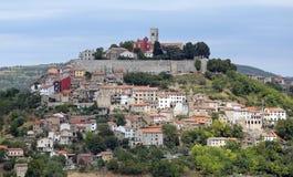 Stadt von Motovun Stockfotos