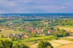 Stadt von Natur Koprivnica und Podravina aerail Ansicht Lizenzfreie Stockbilder
