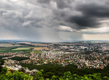 Stadt von Nitra von oben Lizenzfreies Stockbild