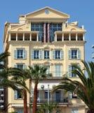 Stadt von Nizza - Architektur entlang Promenade des Anglais Stockfotografie