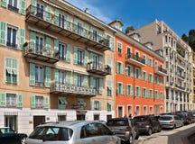 Stadt von Nizza - Architektur entlang Promenade des Anglais Stockbilder