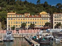 Stadt von Nizza - Architektur im Hafen de Nice Stockfotografie
