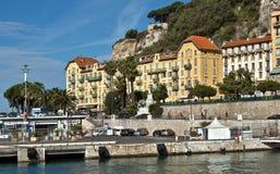 Stadt von Nizza - Architektur im Hafen de Nice Lizenzfreie Stockfotos