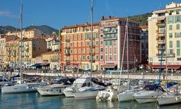 Stadt von Nizza - Architektur von Port de Nice Lizenzfreie Stockfotos