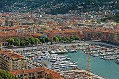 Stadt von Nizza - Architektur von Port de Nice Stockbilder