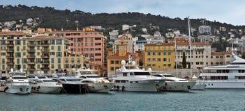 Stadt von Nizza - Architektur von Port de Nice Lizenzfreies Stockfoto