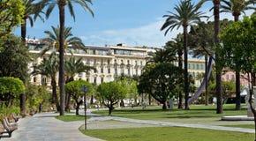 Stadt von Nizza - Gärten Alberts I Stockfotografie