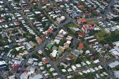 Stadt von oben Lizenzfreie Stockfotos