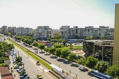 Stadt von oben lizenzfreies stockbild