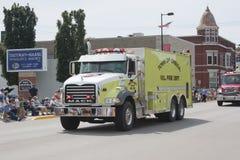 Stadt von Oneida Volunteer Fire Department Truck Front View Stockbilder