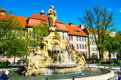 Stadt von opole Quadrat Ignacego Daszynskiego Polen Stockfotos