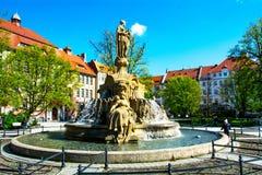 Stadt von opole Quadrat Ignacego Daszynskiego Polen Lizenzfreies Stockbild