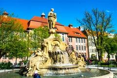 Stadt von opole Quadrat Ignacego Daszynskiego Polen Lizenzfreies Stockfoto