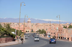 Stadt von Ouarzazate, Marokko Lizenzfreies Stockfoto