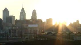 Stadt von Philadelphia-Skylinen stock video