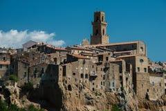 Stadt von Pitigliano in der Provinz von Grosseto in Toskana, Italien stockbilder