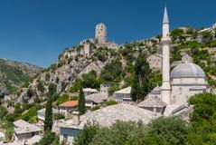 Stadt von Pocitelj, Bosnien und Herzegowina Stockbilder