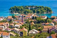 Stadt von Preko, Ugljan-Insel Stockfoto