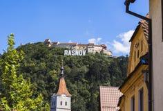 Stadt von Rasnov lizenzfreie stockfotos
