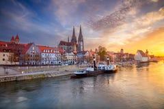 Stadt von Regensburg stockfoto