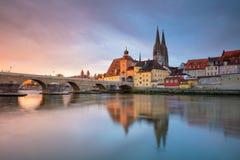 Stadt von Regensburg stockbilder