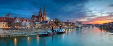 Stadt von Regensburg stockfotos