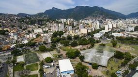 Stadt von Rio de Janeiro, Roberto Campos Square lizenzfreie stockbilder