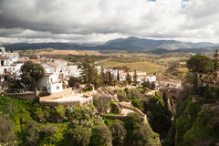 Stadt von Ronda in Spanien im Winter lizenzfreie stockfotos
