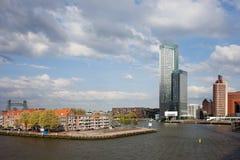 Stadt von Rotterdam in den Niederlanden Lizenzfreies Stockfoto