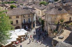 Stadt von Saint Emilion Stockbilder