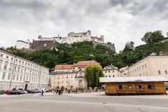 Stadt von Salzburg, Österreich stockbild