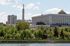 Stadt von Samara mit der Wolga Lizenzfreie Stockfotos