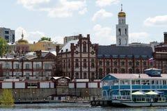 Stadt von Samara mit der Wolga Lizenzfreie Stockbilder